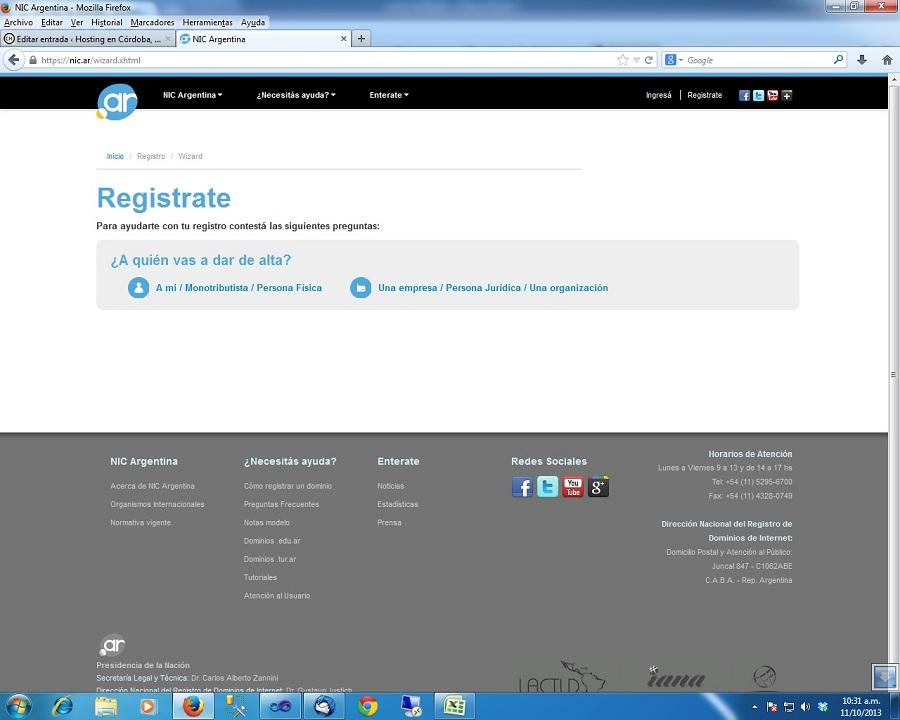 Que el nombre de tu página web sea tuyo. Córdoba, Villa Allende