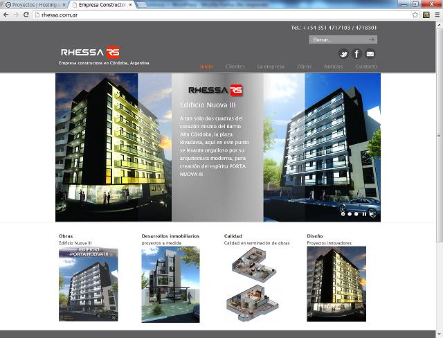 Página web autoadministrable para la empresa constructora Rhessa SRL