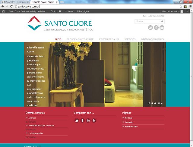 Página web autoadministrable, sistema de control de turnos y especialidades. Web Hosting