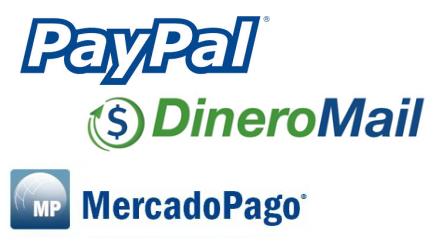 Medios de pago en tu página web, dineromail, mercadopago, paypal