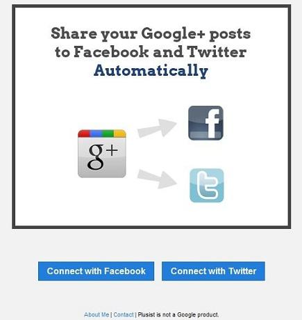 Sincronización de facebook, twitter, google plus