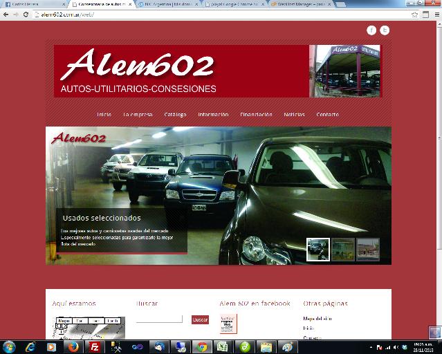 Portada de la pagina web Alem 602