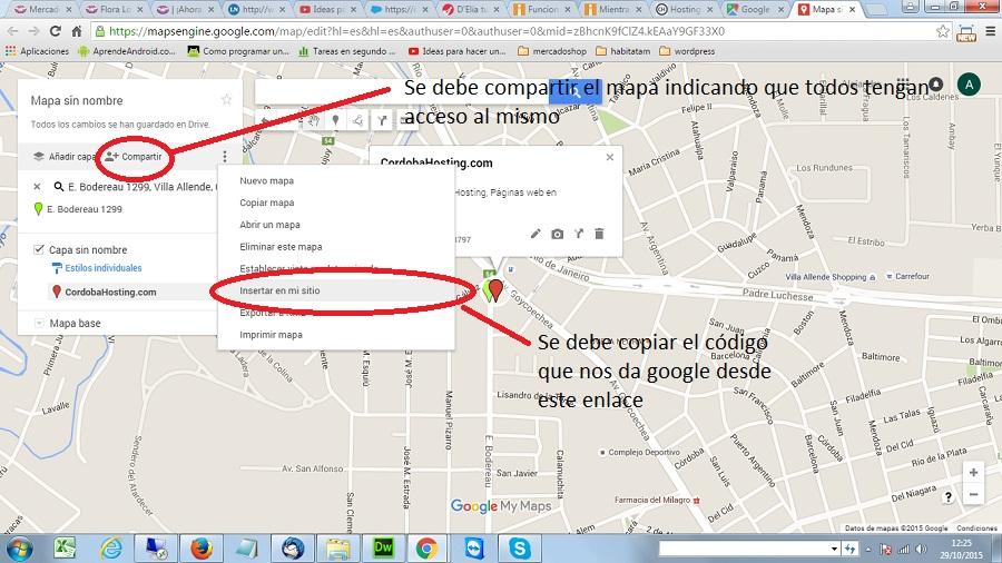 compartir mapa e insertar en mi página web
