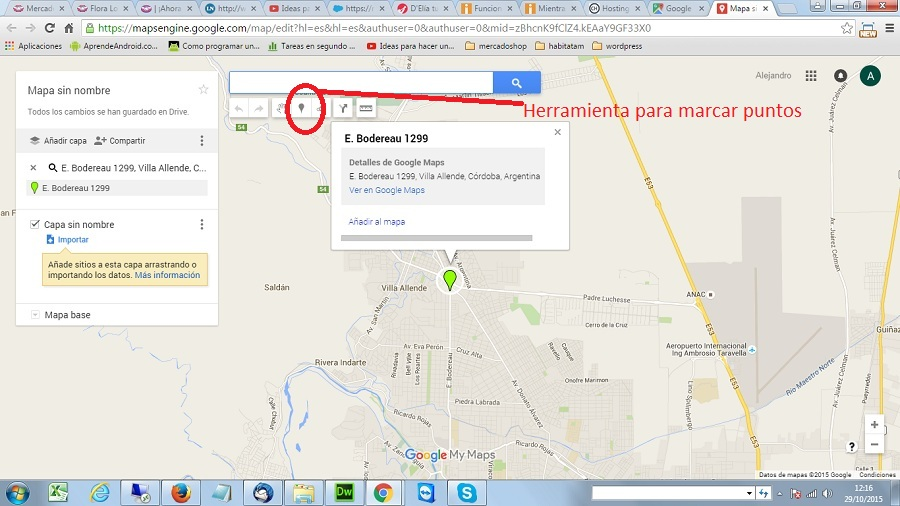 marcar punto en google maps