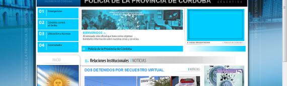 Página web y gestor de contenido para la Policia de la Provincia de Córdoba