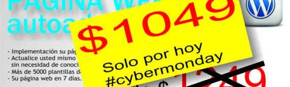 CyberMonday en Argentina. Página web autoadministrable $1049