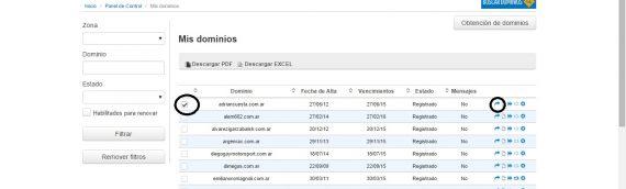 Trámite de delegación de dominio en www.nic.ar